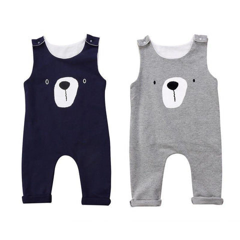 Baby Bear Romper Sleeveless Jumpsuit 3m-18m