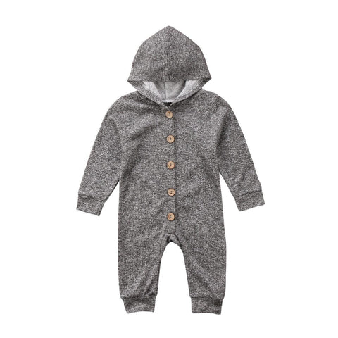 Baby Romper Hooded Jumpsuit Long Sleeve Outfit 3m-18m