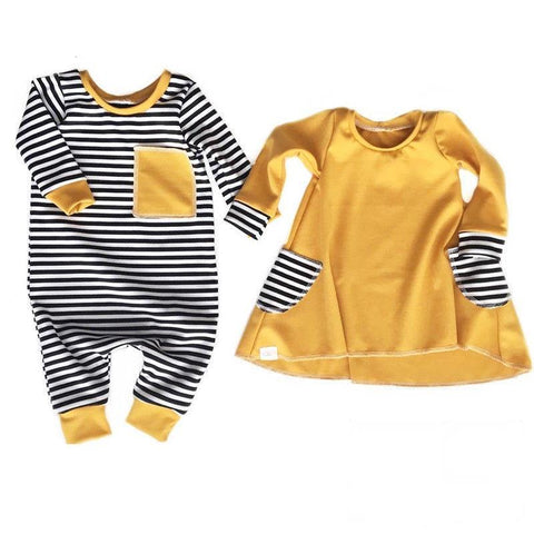 Baby Boy Girl Matching Clothes Jumpsuit or Dress 3m-18m