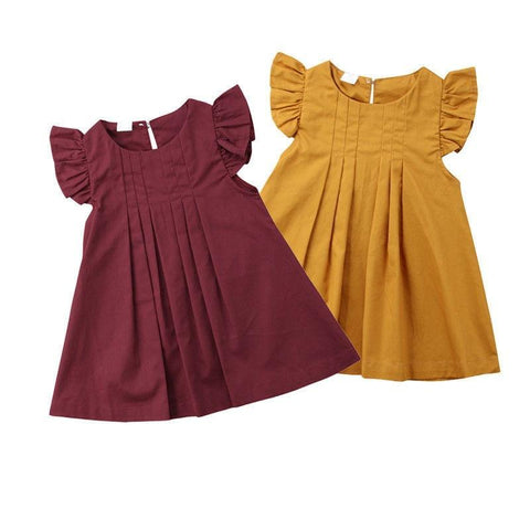 2 Colors Toddler Ruffle Sundress 3m-2t