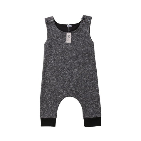 Casual Baby Overall  Solid Jumpsuit 3m-18m