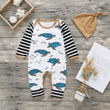 Sea Turtles and Stripes Jumpsuit and Matching Hat