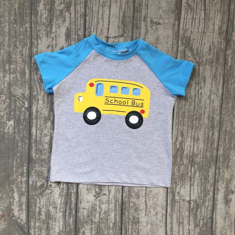 School Bus Raglan Tee 4t-8