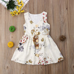 Baby Girl Sleeveless Floral Boho Sundress  6m-4t