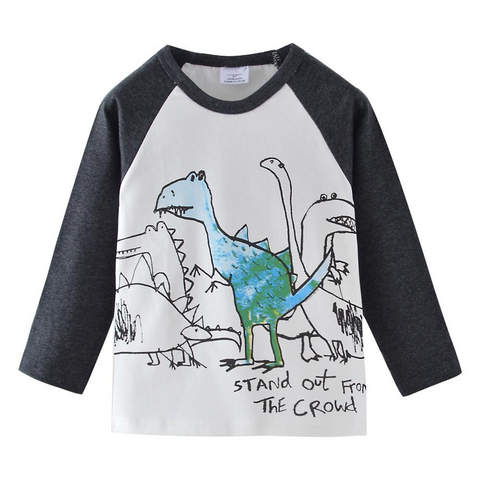 Stand Out Dinosaur Long Sleeved Top 2t-7