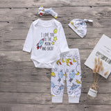 "4 Piece ""To The Moon And Back"" Outfit Set- 3m-2t"