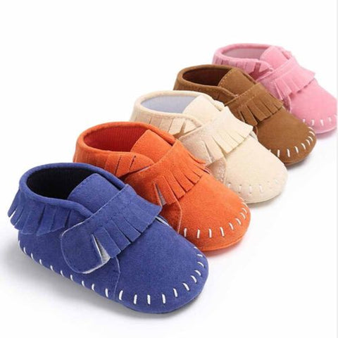 Soft Baby Suede Shoes- First Walker Shoes 0-18m