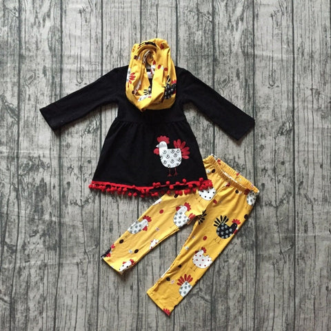 3 pc Fall Chicken Outfit 12m-7