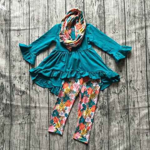 3 pc Jade Floral Fall Outfit 12m-8