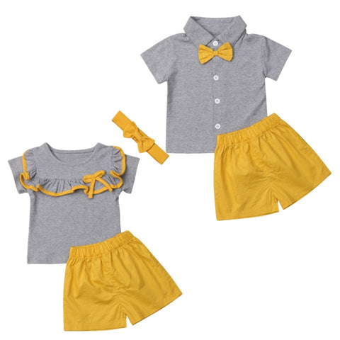 3 Piece Sunshine Yellow Boy or Girl Outfit