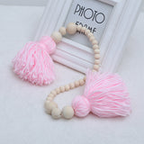 Nordic Style Wooden Beads Garland With Tassels
