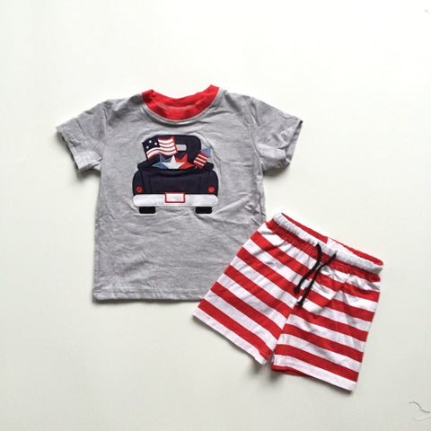 July 4th Vintage Truck Outfit- 2t-8
