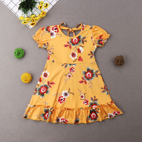 Summer Floral Ruffle Dress- Choose from 3 colors! 12m-5t