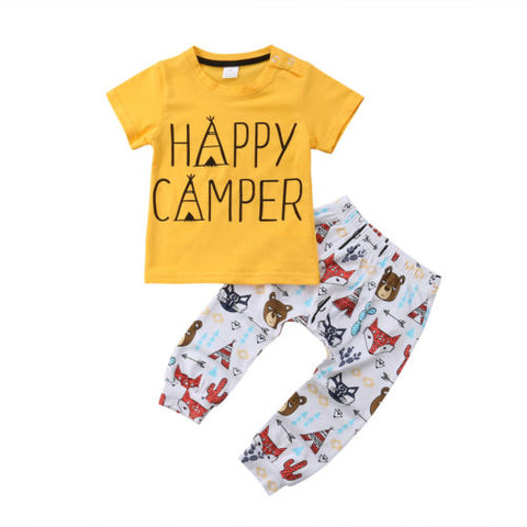 2 Piece Happy Camper Outfit Set- 3m-18m