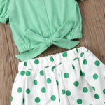 2 Piece Off the Shoulder Girls Summer Outfit