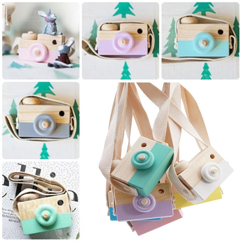 Mini Wooden Camera Toy Decoration
