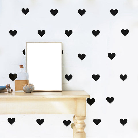 Mini Hearts Wall Vinyl Decals- Multiple colors and sizes available
