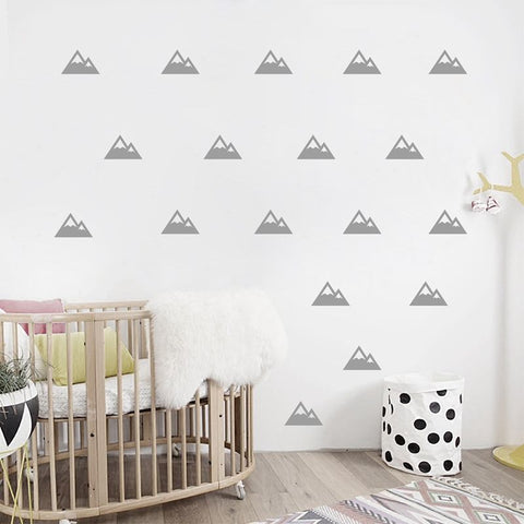 Mountain Pattern Wall Sticker for Kid's Bedroom- 2 sizes