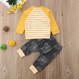 2 Piece Rhino Patterned Long Sleeved Outfit Set- 3m-18m