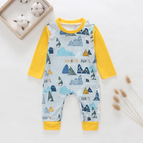 Adventure Awaits Long Sleeved Jumpsuit/Romper- 3m-18m