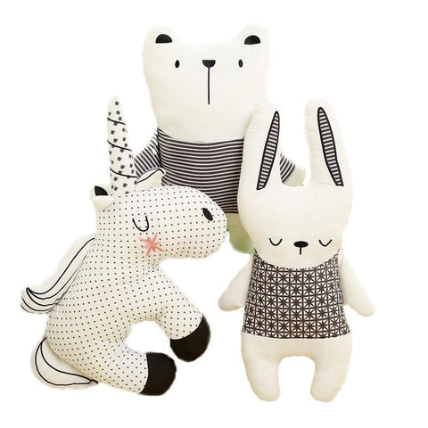 Nordic Style- Rabbit Unicorn Bear Plush Pillow Toy