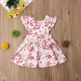 Girls Bunny Print Summer Dress- 6m-4T