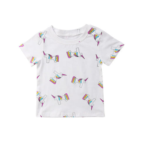 Unicorn Print Summer T-shirt- 12m-6
