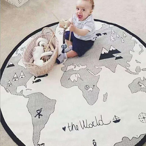 World Map Play Mat