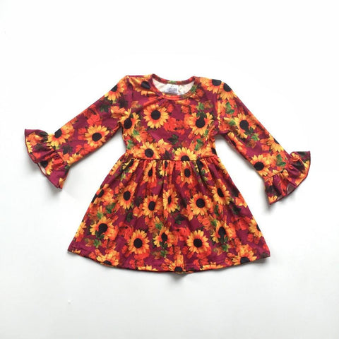 Autumn Sunflower Dress 12m-10