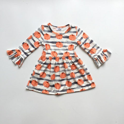 Pumpkin Patch Striped Dress 12m- 8