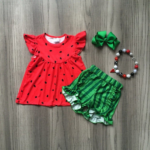 4pc Watermelon Summer Outfit- 12m-9