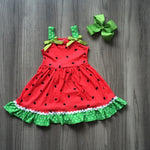 Watermelon Dress With Matching Bow