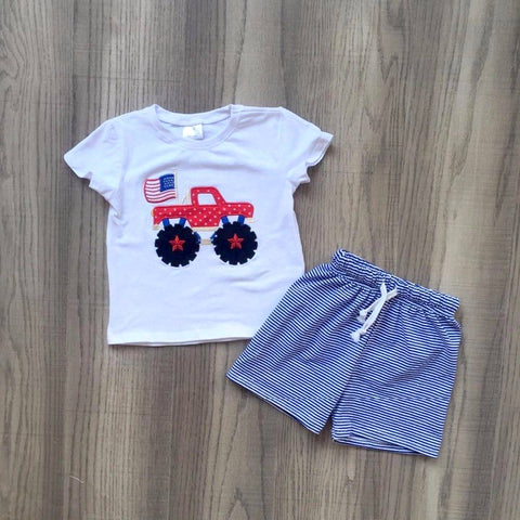July 4th Truck 2pc Set- 12m-8