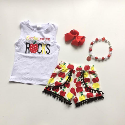 4 pc Kindergarten Rocks Tank Top Set 5t-7