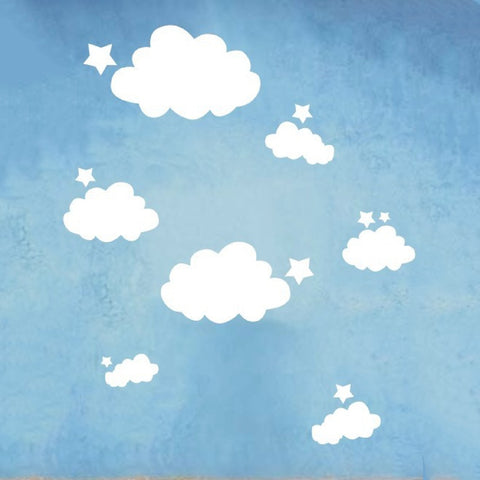 Star & Cloud Vinyl Wall Decals