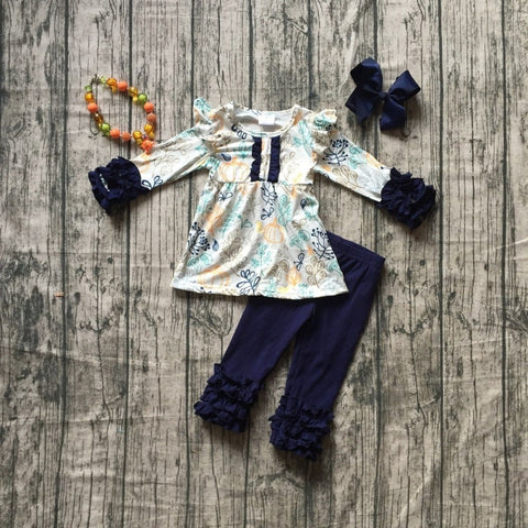 4 pc Navy Fall Set 12m-8