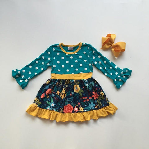 2 pc Florals and Polkadots Dress 12m-8