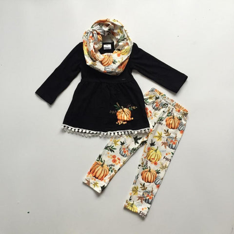 3 pc Pumpkin Pie Outfit 12m-8