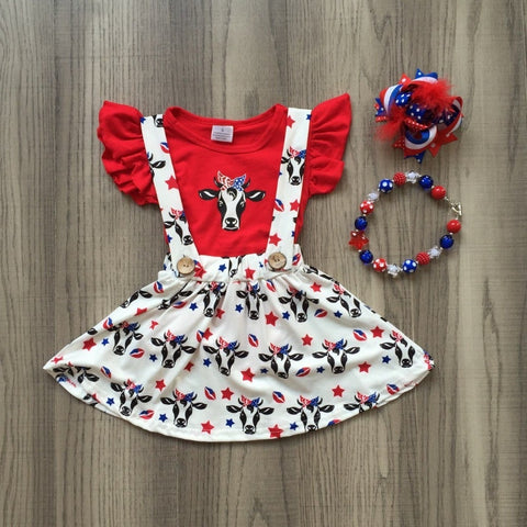 Red White and Moo 4pc Set- 12m-8