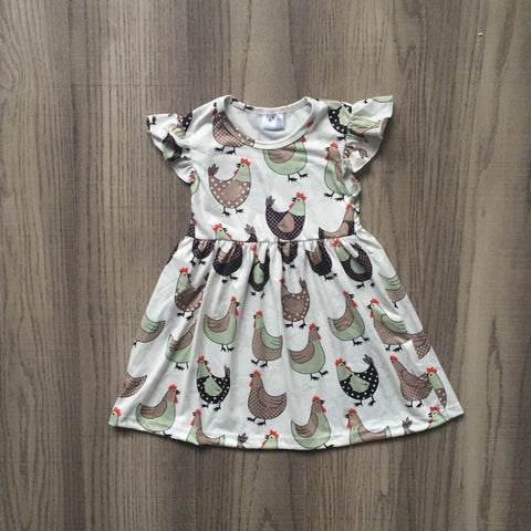 Chicken Print Dress 12m-9