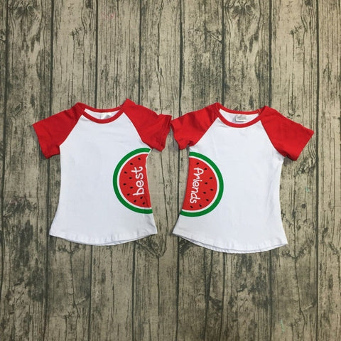 Best Friend Watermelon Raglan T-shirts- 12m-8