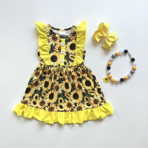 3 pc Sunshine Yellow Dress Set 12m-10