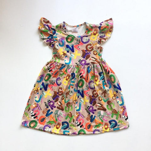 Animal ABC's Dress 4t-8