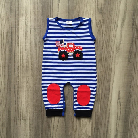 Independence Day Truck Romper 2 Designs- 3m-24m