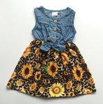 Denim & Sunflowers Sleeveless Dress 12m-9