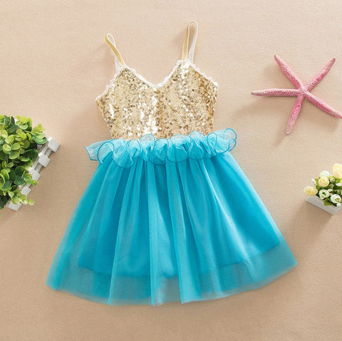 Sequin and Tulle Sparkly Princess Dress- 5 colors