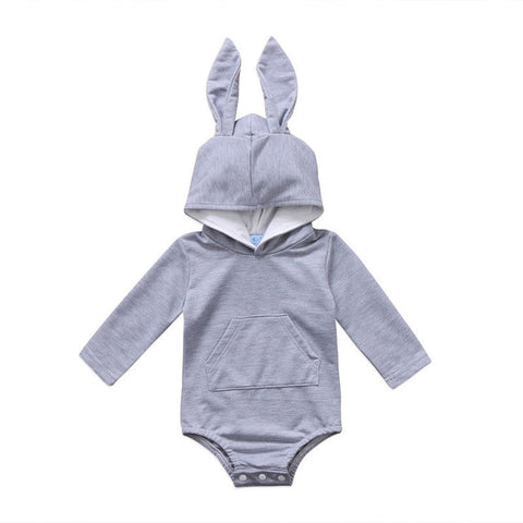 Baby & Toddler Hooded Bunny Ear Romper Outfits 3m-18m