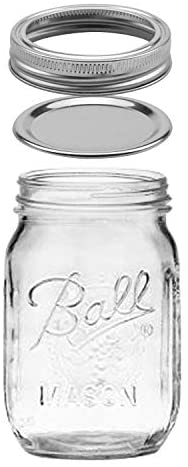 12 Pack Glass Jars 16 oz Regular Mouth Mason Glass Jars
