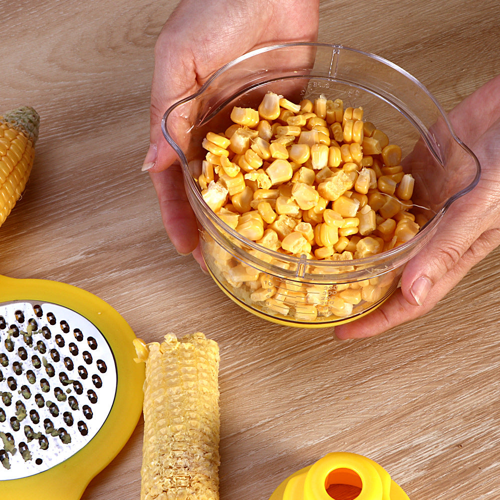 inventive stain resistant steel corn planer multifunction peeling corn thresher practical kitchenware kitchen gadgets