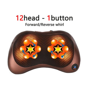 Open image in slideshow, Neck Massager for Neck Massage Pillow Electric Body Massager Head Back Massager for Face Foot Arm Heating Vibrator Car Home Use